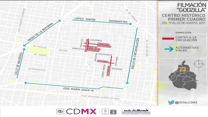 Por filmación de película Godzilla habrá cierres vehiculares en la CDMX